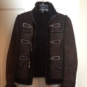 Coach Lamb Shearling jacket with Mink trim